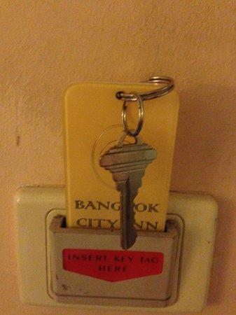 Bangkok City Inn: Hotel Key