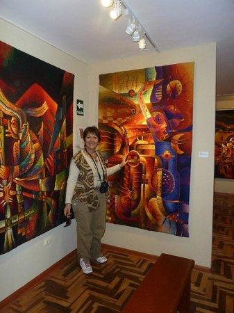 Disfrutando de maravillosas obras de arte textil en  Museo Maximo Laura