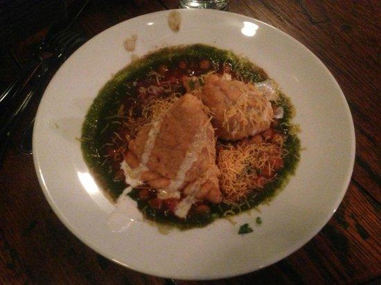 Vimala's Curryblossom Cafe : Samosa Chole Chaat