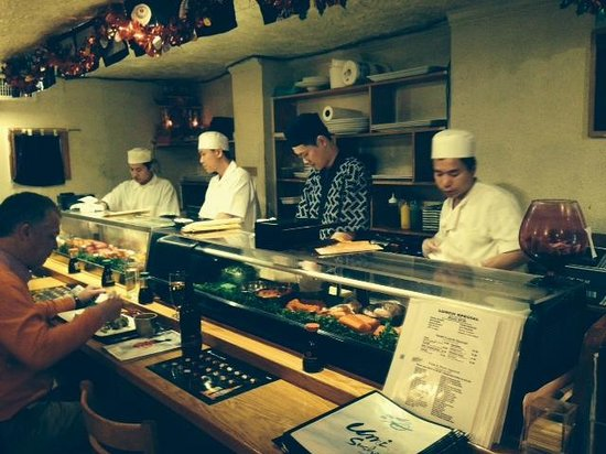 Umi Sushi: The sushi chef and his assistants