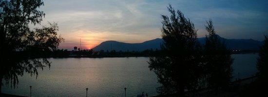 View from Kampot Riverside Hotel room balcony