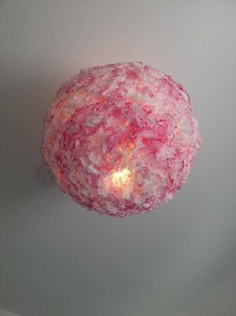 Edwardian San Francisco Hotel: My very awesome rose ceiling lamp (which I wanted to take home with me but didn't)