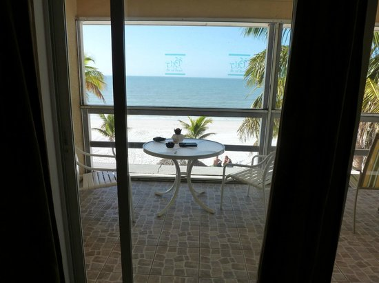 Tiki On The Beach: view from our living room.