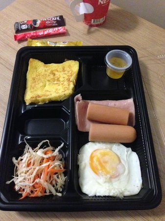Red Planet Hat Yai: Slightly different breakfast fare each day.