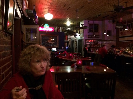 Stella Blues: Nice dinner in Eau Claire Wisconsin, and that's no croc!