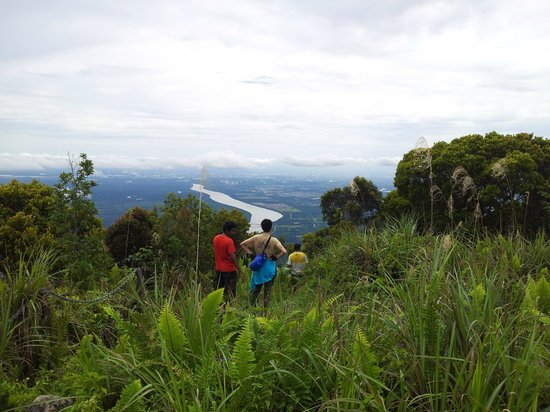 Mount Santubong: looking down from the summit