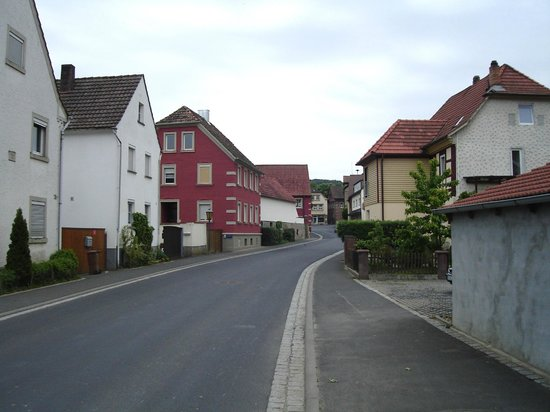 A street in lower Massbach in the older part of town