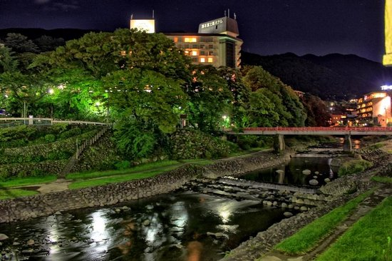 02.10.2013. Вечерний вид на Yumoto Fujiya Hotel