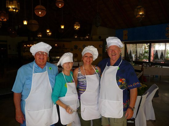 The Original Salsa and Salsa Los Cabos: Myself and our friends the Kropp's making Salsa