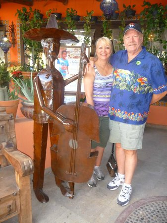 The Original Salsa and Salsa Los Cabos: In front of the El Coyote Resturant and Tequilla Lounge