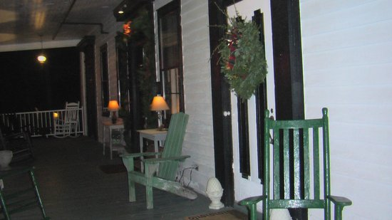 The American Hotel: Porch at Entrance