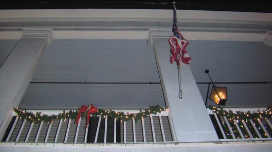 The American Hotel: Flag Near doorway