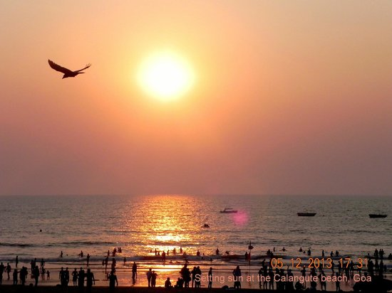 Citrus Goa: Sun down at Calangute beach