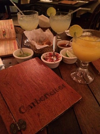 Carboncitos: House margs and mango marg
