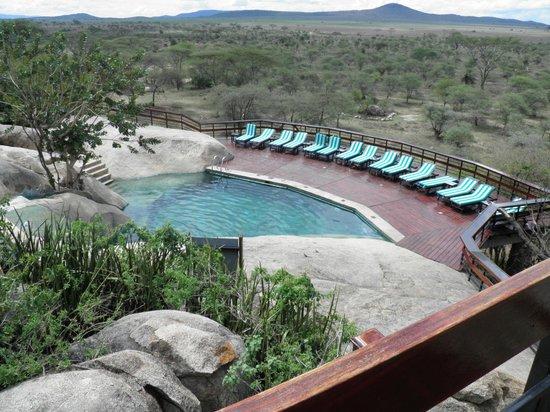 Seronera Wildlife Lodge : Cool Pool and Serengeti plains beyond