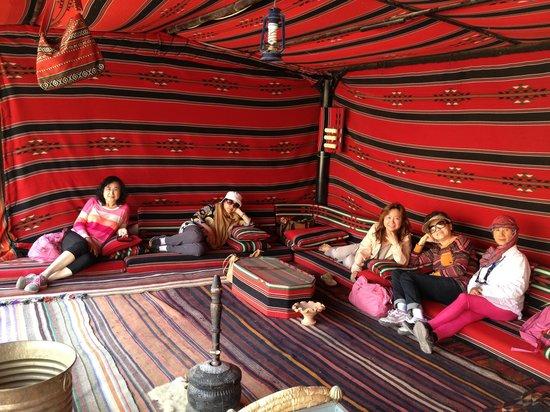 Wadi Rum Bedouin Camp : The common long tent