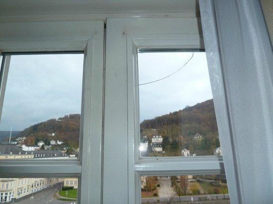 Häcker's Grand Hotel: Fenster mit Riss