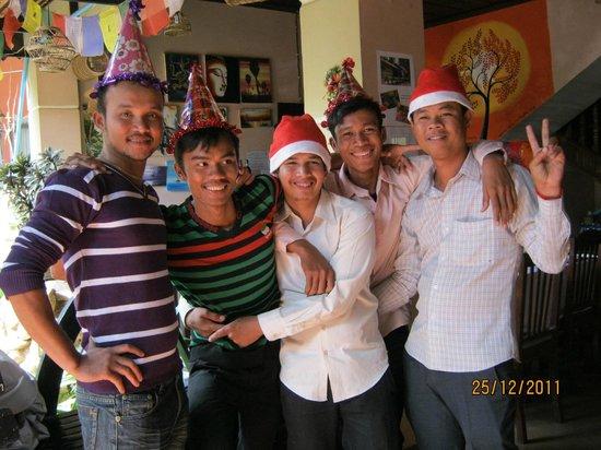 Angkor Voyage Villa: Staff Christmas party