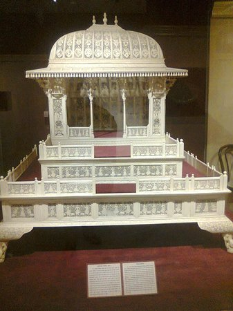 National Museum: 'Singhasan' model - Very fine marble cutting.