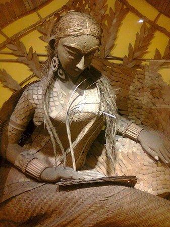 National Museum: Maa Saraswati - Intricate Canework.