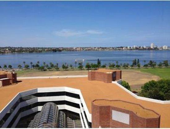 Hyatt Regency Perth: View from the club suite breakfast