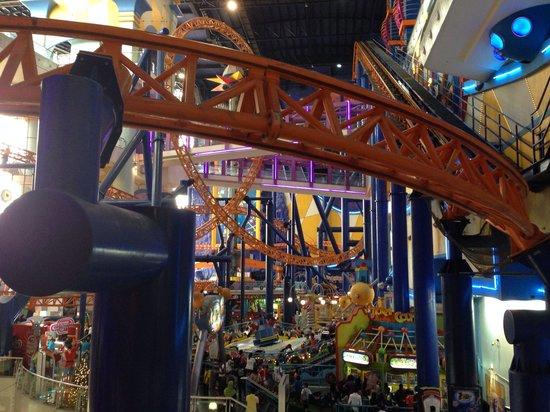 Berjaya Times Square Kuala Lumpur: Roller coaster!