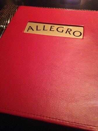Allegro : Menu