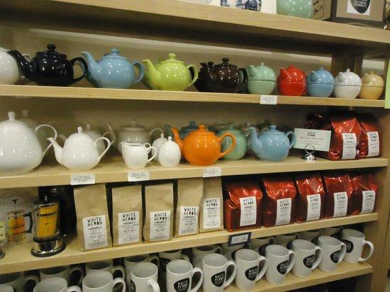 White Heron Tea & Coffee Community: White Heron Tea - teapot selection and bagged teas