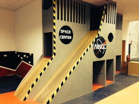 Awesome Walls Climbing Centre: The Awesome childrens 'Space Zone'