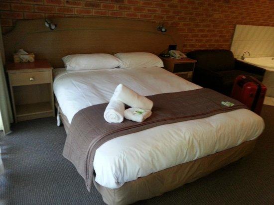 Eltham Motor Inn: Double bed.