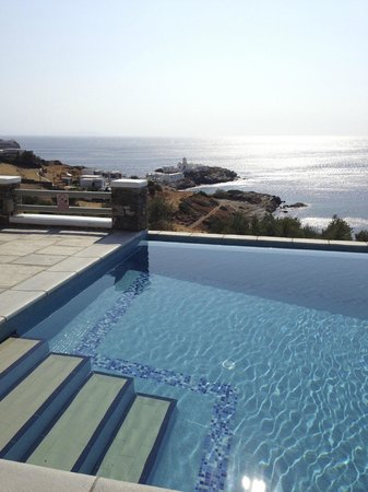 Selana Suites: View from the pool of the chrispogi chapel