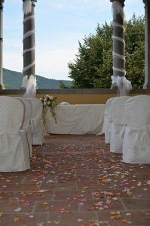 Hotel Villa Rinascimento: Loggia allestita per cerimonia