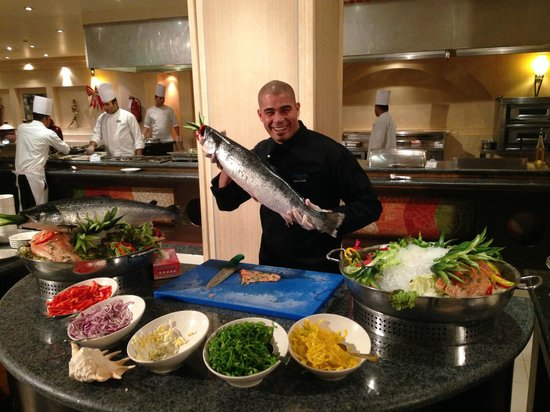 Sensimar Premier Le Reve: Happy chappy staff - the Sous Chef on Gala night!