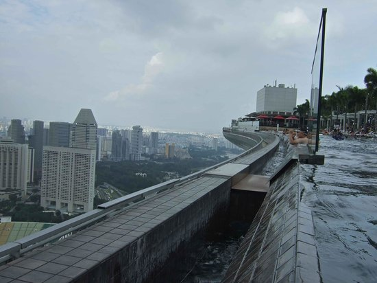 Marina Bay Sands: プールの壁の下がどうなっているのかが分かりました