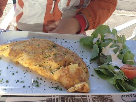 Brasserie Les Cimes: omelette gruyère