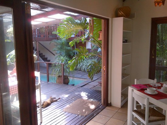 Mythai Guesthouse: view from the breakfast deck