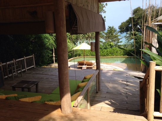 Soneva Kiri: Private Terrasse mit Pool