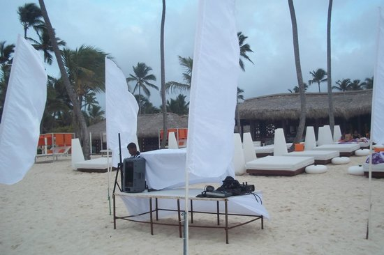 Paradisus Punta Cana Resort : Montaje de la fiesta