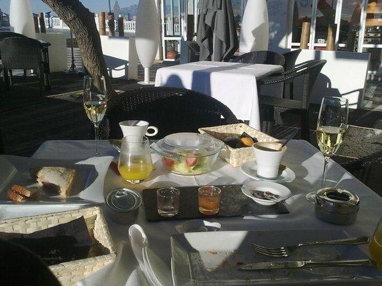 Villa Venecia Hotel Boutique : Terminando el desayuno completo
