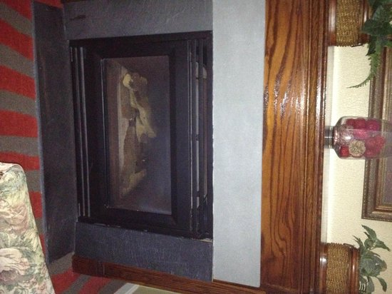 Clarion Inn Historic Strasburg Inn: Fireplace that didn't work