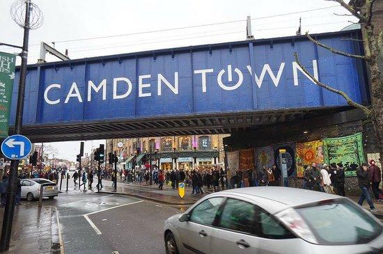 Inhabition: Camden Town bridge nearby