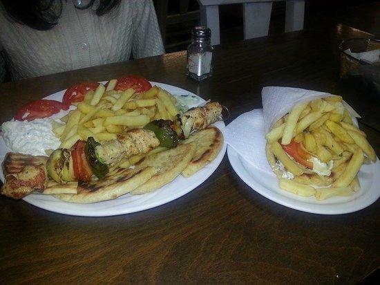 Tzatziki: souvlaki and pita gyros