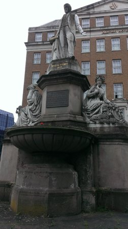 Birmingham Marriott Hotel: A statue outside the hotel