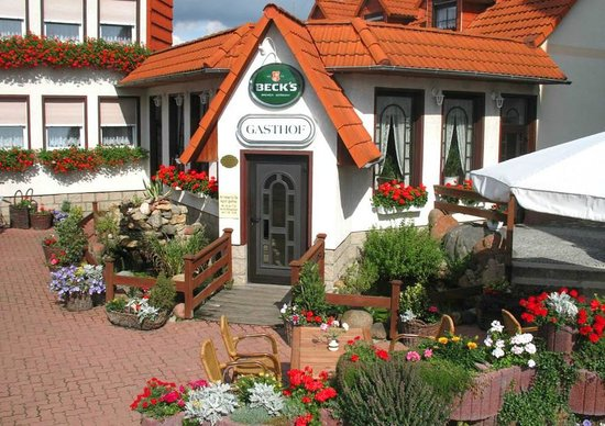 Oschersleben, Almanya: Unser Eingang zur Gaststätte