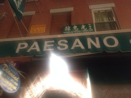 Paesano of Mulberry Street: Blurry but I wanted to remember the name