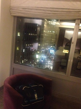 W New York: View from room at night
