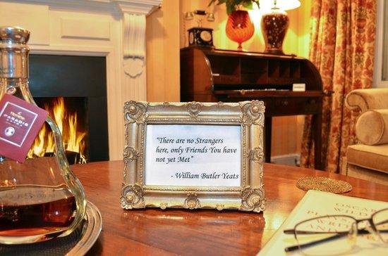 Kilronan House : WB Yeats