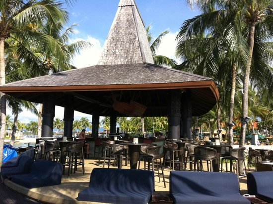 Sunset Bar at Shangri-La's Tanjung Aru Resort and Spa: View from the sea