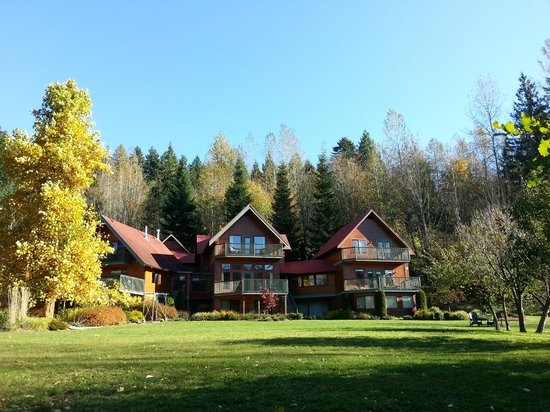 The Lodge at Twin Creeks : Coming back from the forest, an inviting scene