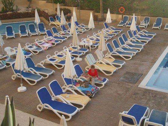 Iberostar Bouganville Playa: 7h30 squat des transats